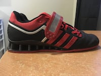Pair of red-and-black adidas sneakers Port Colborne, L3K 4V8