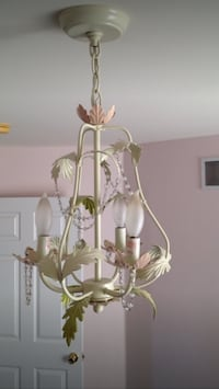 Land of Nod Pink/green/off white chandelier Howell, 07731
