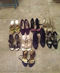 Assorted womens dress shoes