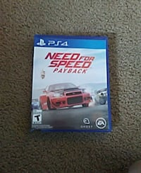 Need for Speed pay back  PS4 game case Williamston, 29697