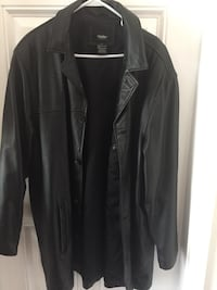 Men's black leather jacket Port Charlotte, 33952