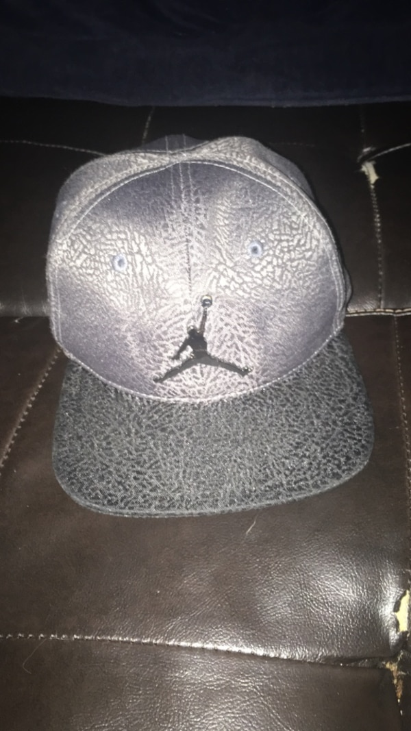 afffab6066eddc Used gray and black Air Jordan fitted cap for sale in York - letgo