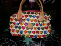 NWOT Dooney & Burke Hearts with Rainbow Zipper Longmont, 80501