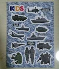 BN Pioneer Kids Army/ Navy Sticker Choa Chu Kang