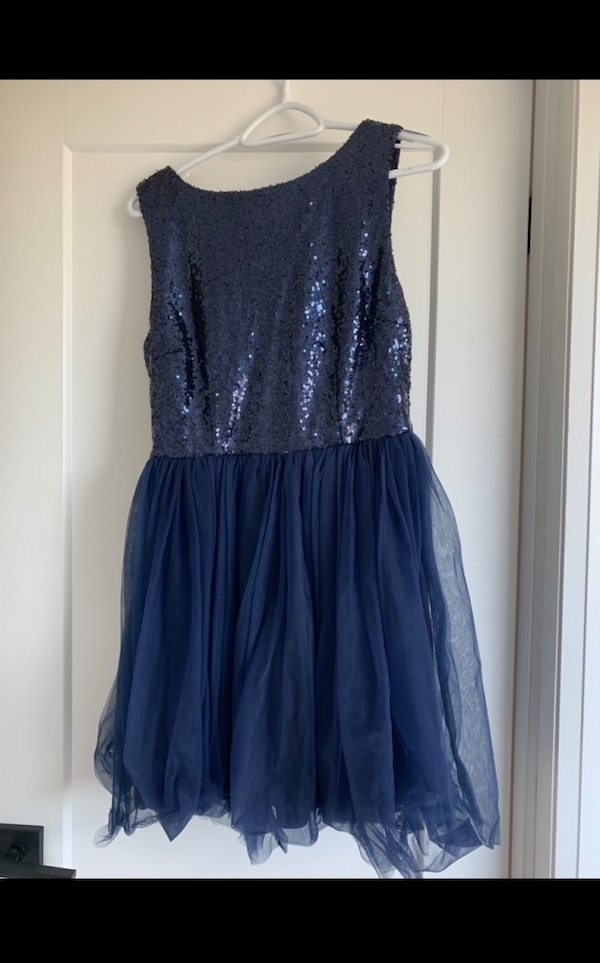 XS Navy Blue (Sequin & Tulle) Prom Dress--BNWT - $50 0