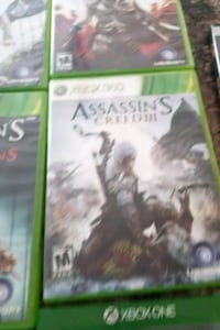 Xbox 360 Assassin's Creed 3 game case Martinsburg, 25405