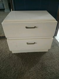 Cream 2-drawer nightstand Idaho Falls, 83402