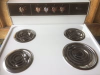 white and black 4-coil electric range oven Anchorage, 99515