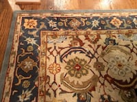 Rug, 9x12 Pottery Barn Eva Persian Rug Beige/Blue Mc Lean, 22101