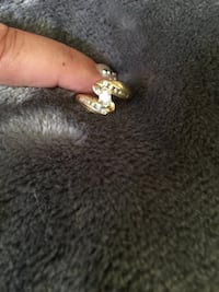 3/4 of carat TW engagement ring 14k yellow gold size 5 and can be resized by your local jeweler Falls Church, 22042