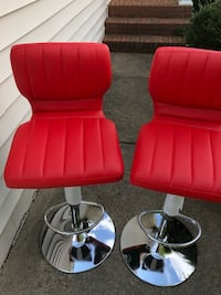 Red leather bar stool Milton, 30004