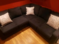 black fabric sectional  Brampton, L6Y 1T9