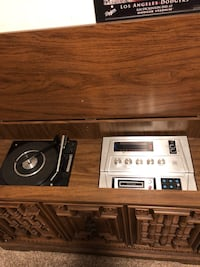 Mid Century Stereo Console LP Record, 8 Track, Radio in a Beautiful Mediterranean Cabinet  San Diego, 92106