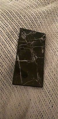 Black and white marble square iPhone XS Max case Waldorf, 20602