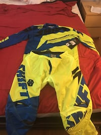 yellow and blue motocross jacket and pants Toronto, M6G 3W4