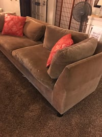 Brown suede sofa Bakersfield, 93309