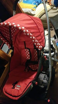 baby's red and white polka dot jogging stroller Saint Paul, 55104