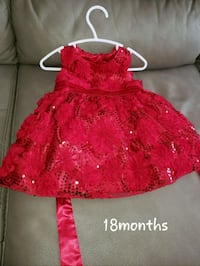 Beautiful 18 month Christmas dress.  Edmonton, T5Y 2T8
