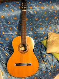 brown and black classical guitar Spring, 77380
