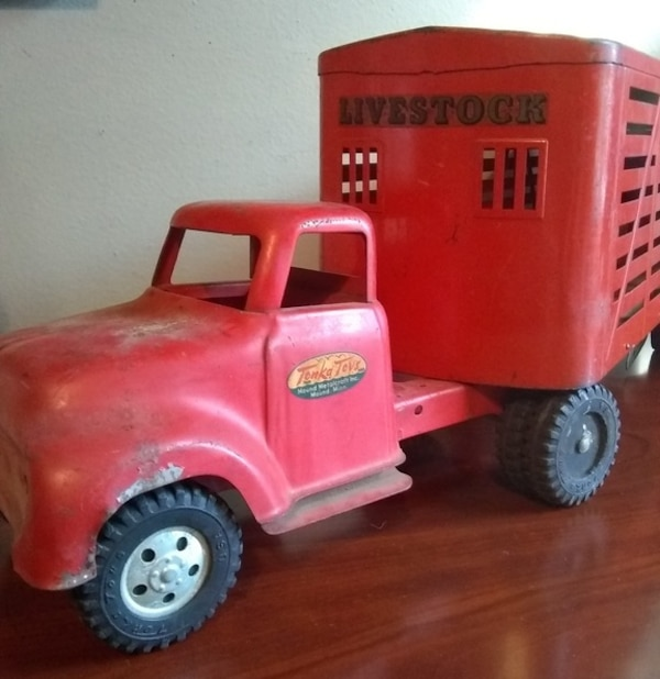 Used Awesome 1953 54 Tonka Truck With Livestock Trailer For Sale In