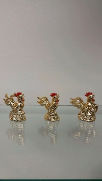 Smaller Ceramic Rooster Figurines (new)