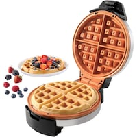 Farberware Copper Non-stick Round Waffle Maker, STAINLESS STEEL Baltimore, 21216