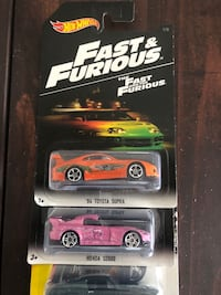 """2016 Hot Wheels """" The Fast and the Furious complete set. 8 of 8   827 mi"""