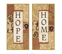 Home and hope wall are set of 2. 14x14  Mount Pleasant, 29464