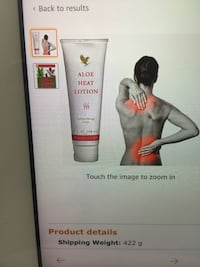 Aloe heat lotion for sore muscles and pain Burnaby, V5H 1V5