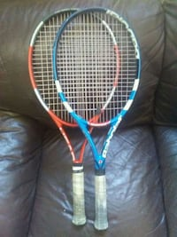 red and blue tennis rackets Vancouver, V6B 1G4