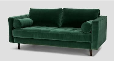 Emerald Green Sofa Couch--New