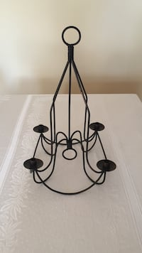 Vintage Wrought iron chandelier / candle holder