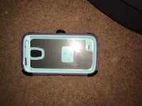 Clear, green, and purple smartphone case