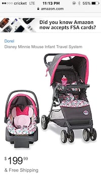 Car seat stroller combo Minnie Mouse  Bakersfield, 93308