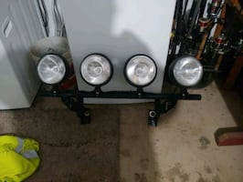 Off-road lights with bar