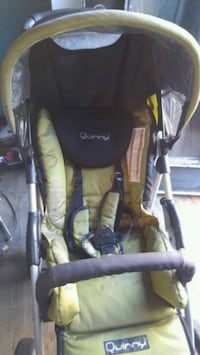 baby's yellow and black Quinny stroller Hamilton, L8L 6R5