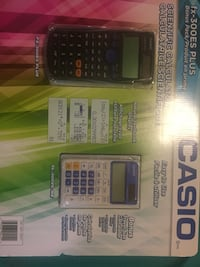 Two scientific calculators. Brand new. In the box   Brampton, L6V 3M6
