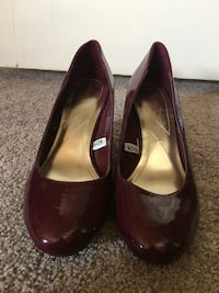 Maroon Patent Leather Wedges  Tacoma, 98406