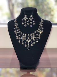 silver-colored and diamond studded pendant necklace Coral Gables, 33146