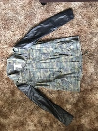 Camo jacket with leather sleeves 2341 mi