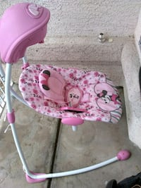 baby's pink and white floral swing chair Las Vegas, 89147