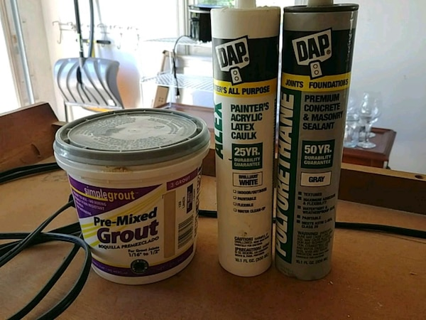 Grout, caulk, masonry sealant