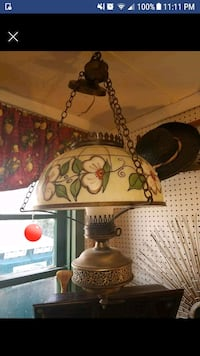 Vintage Glass Hanging Lamp Midland, 22728