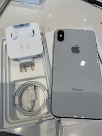 2 silver iPhone x 64gb unlock. $450 for one $700 for two London