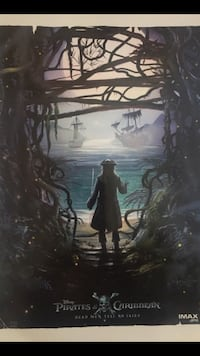 """Disney Pirates Of The Caribbean / Dead Men Tell No Tales / IMAX AMC Exclusive Poster 9"""" x 13"""" Beverly Hills, 90212"""