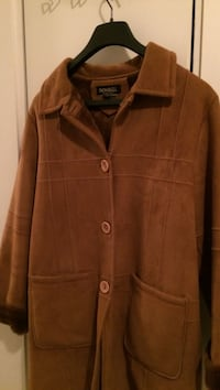 brown button-up coat