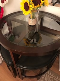 Bar table glass top with 4 chairs Alexandria, 22304
