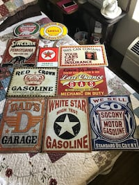 10 gasoline and motor oil signs for ur mancave or 20.00'a piece  Blue Ash, 45242