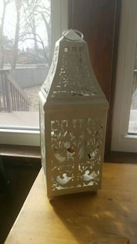 white wedding pillar candle lantern London, N6C 2E5