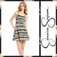 Jessica Simpson Abstract Black and Cream Midi Hagerstown, 21740